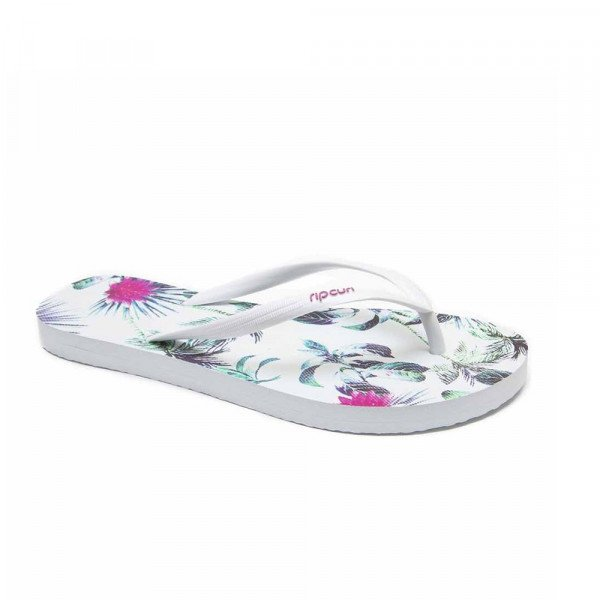 RIP CURL SANDALES PALMS AWAY WHITE PINK S18
