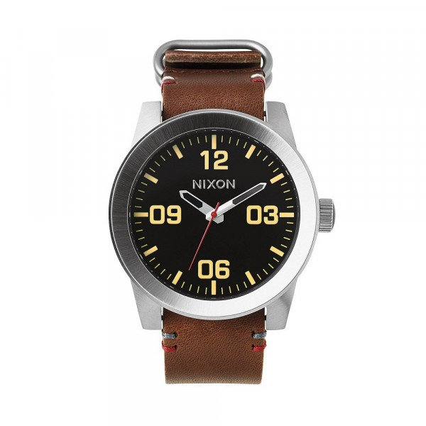 NIXON WATCH CORPORAL BLACK BROWN