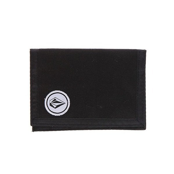 VOLCOM MAKS PIVOT CLOTH WALLET BLK FALL13