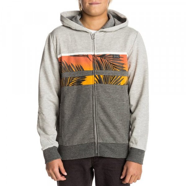 RIP CURL ZIP-HOOD PALM MASON HZ KIDS CEMENT MARLE S18