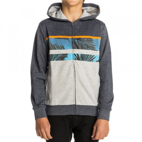 RIP CURL ZIP-HOOD PALM MASON HZ KIDS BLUE WASHED S18