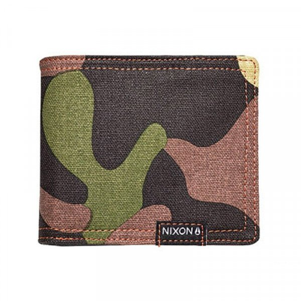 NIXON WALLET TREE HUGGER LARGE WOODLAND CAMO