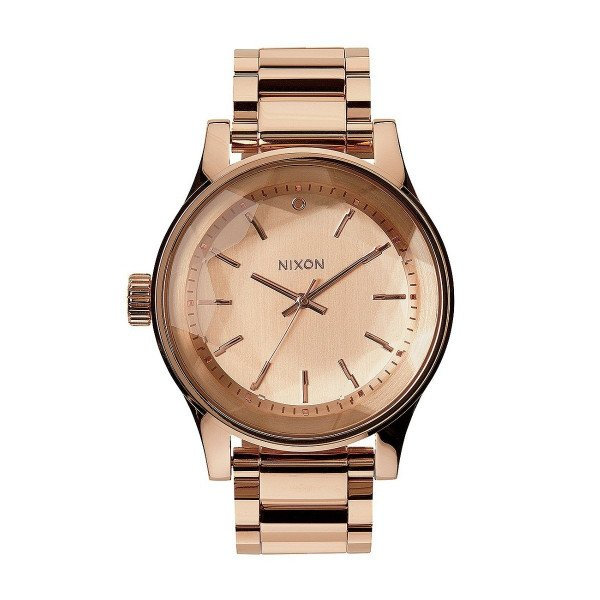 NIXON PULKSTENIS FACET ALL ROSE GOLD