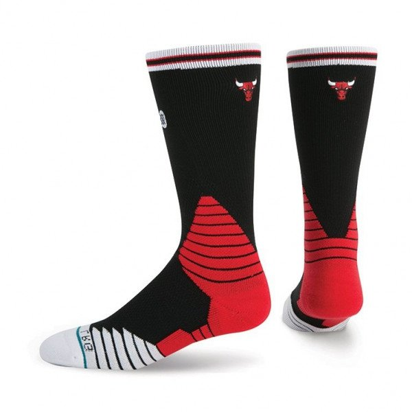 STANCE SOCKS NBA ONCOURT LOGO CREW BULLS BLACK