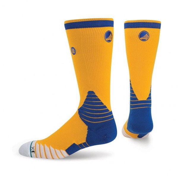 STANCE ZEĶES NBA ONCOURT LOGO CREW WARRIORS YELLOW