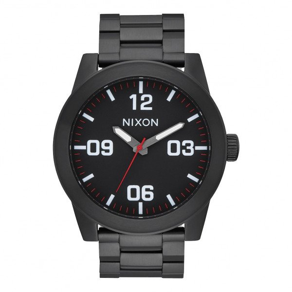 NIXON WATCH CORPORAL SS ALL BLACK WHITE