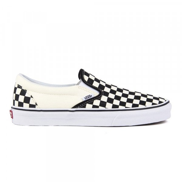 VANS APAVI CLASSIC SLIP ON BLACK WHITE CHECKERBOARD WHITE F19