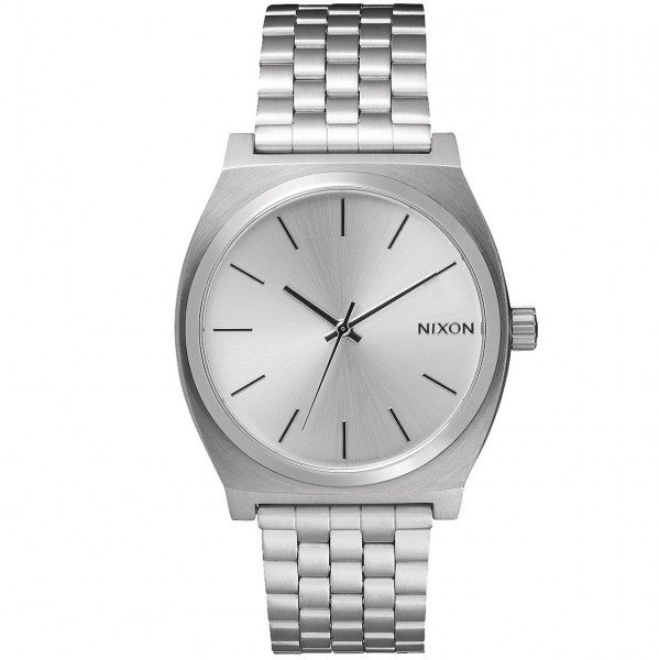 NIXON WATCH TIME TELLER ALL SILVER