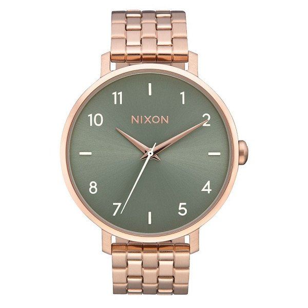 NIXON PULKSTENIS ARROW ROSE GOLD SAGE