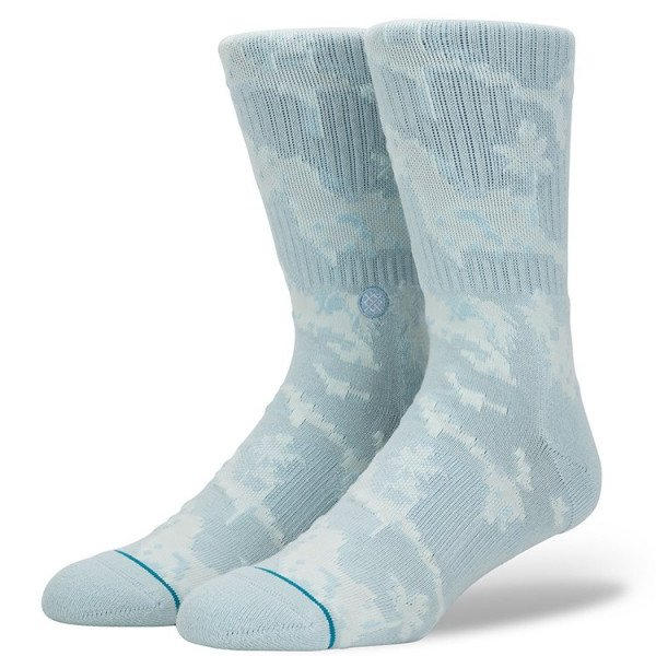 STANCE ZEĶES SIDESTEP PIXEL PALMS LIGHT BLUE