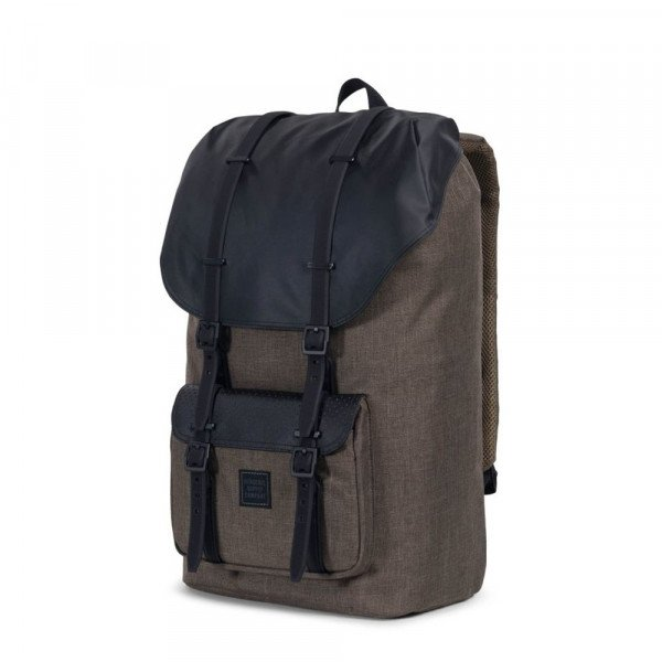 HERSCHEL SOMA LITTLE AMERICA CANTEEN CROSSHATCH BLACK S18