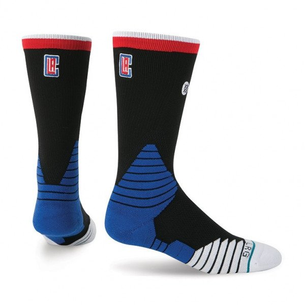 STANCE ZEĶES NBA ONCOURT LOGO CREW CLIPPERS BLACK