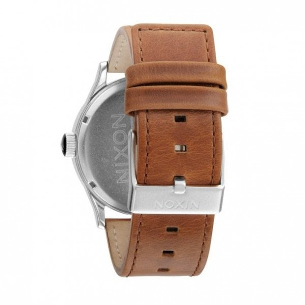 NIXON PULKSTENIS SENTRY LEATHER BLACK/SADDLE