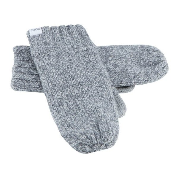COAL GLOVES ROWAN MITTEN GREY MARL