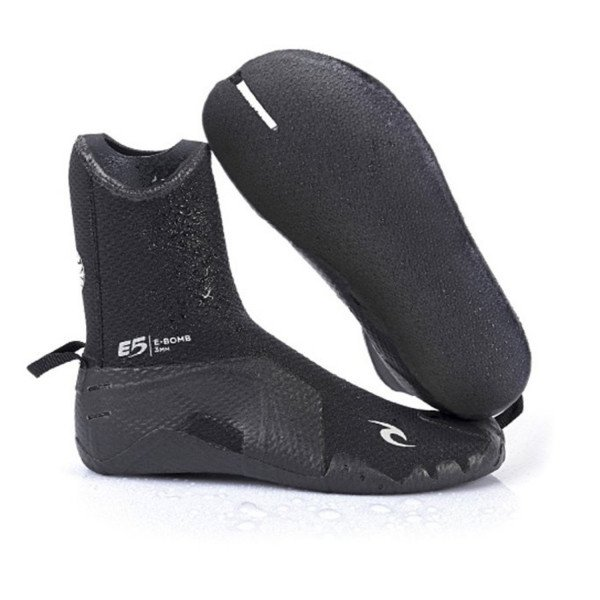 RIP CURL BOOTS E BOMB 3 MM SPLIT TOE BLACK