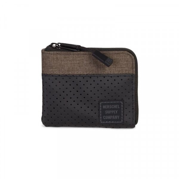 HERSCHEL MAKS JOHNNY RFID CANTEEN CROSSHATCH BLACK S18