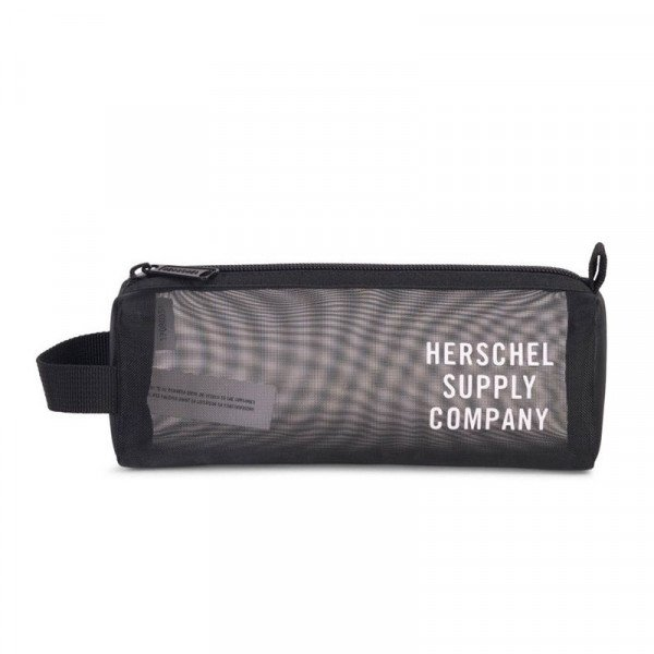 HERSCHEL SETTLEMENT CASE MESH BLACK WHITE
