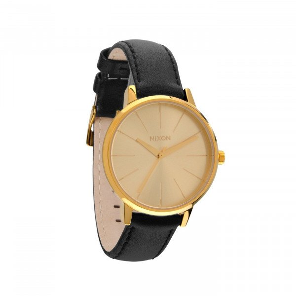 NIXON PULKSTENIS KENSINGTON LEATHER GOLD