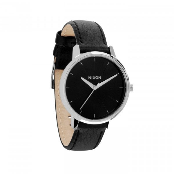 NIXON PULKSTENIS KENSINGTON LEATHER BLACK