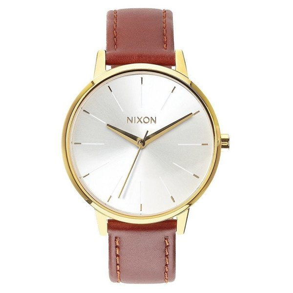 NIXON WATCH KENSINGTON LEATHER SADDLE