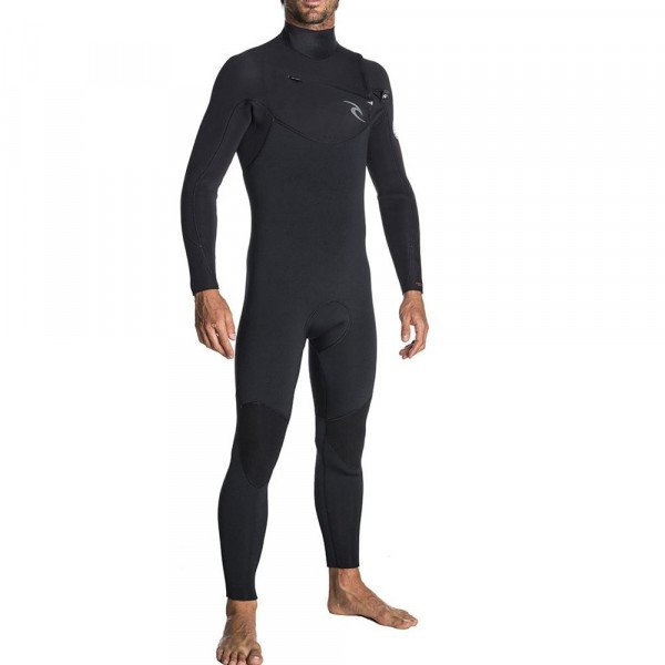RIP CURL HIDRA DAWN PATROL 53 GB CHEST ZIP BLACK S18