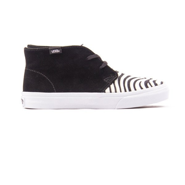 VANS APAVI CHUKKA SLIM SUEDE ZEBRA BLACK TRUE WHITE FALL13