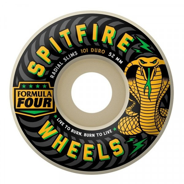 SPITFIRE SK8RITEŅI FORMULA FOUR 101D RADIAL SLIMS SPEED KILLS REG