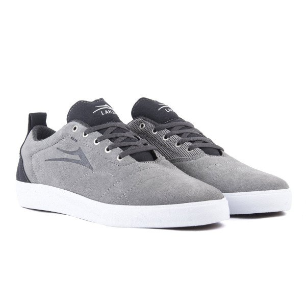 LAKAI APAVI BRISTOL LIGHT GREY CHARCOAL SUEDE S18