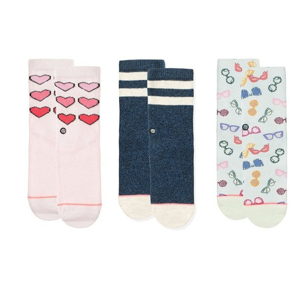 STANCE ZEĶES XO BOX SET KIDS PINK