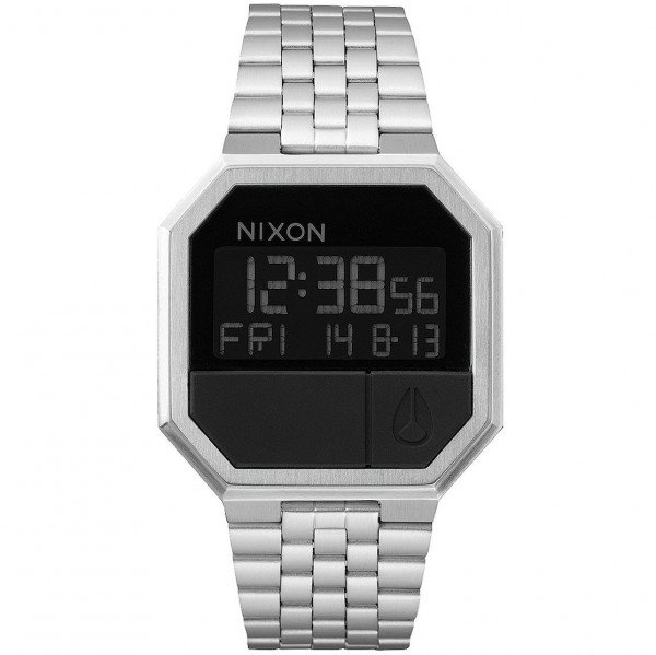 NIXON PULKSTENIS RE-RUN BLACK