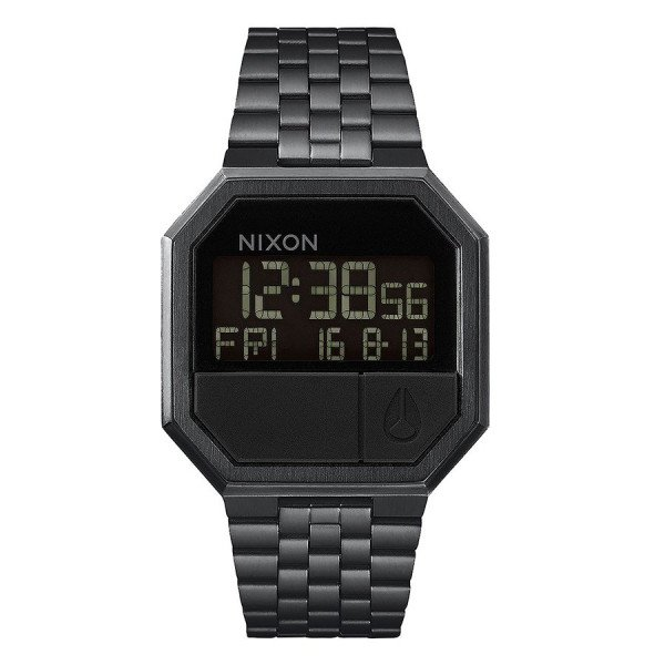 NIXON PULKSTENIS RE-RUN ALL BLACK