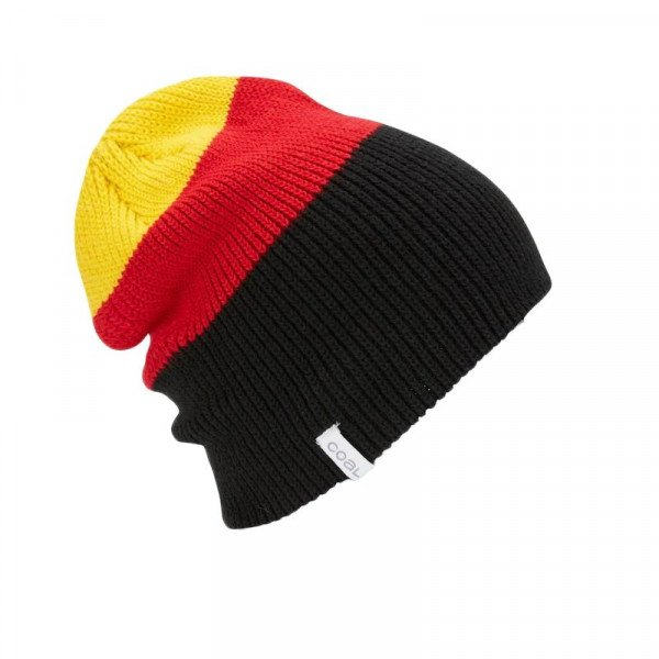 COAL BEANIE FRENA DARK RED STRIPE F18