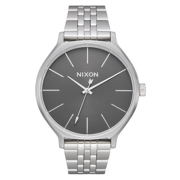 NIXON WATCH CLIQUE ALL SILVER GRAY
