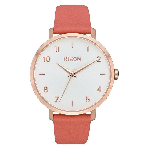NIXON PULKSTENIS ARROW LEATHER ROSE GOLD SALMON