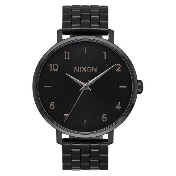 NIXON PULKSTENIS PORTER LEATHER ALL GOLD BLACK