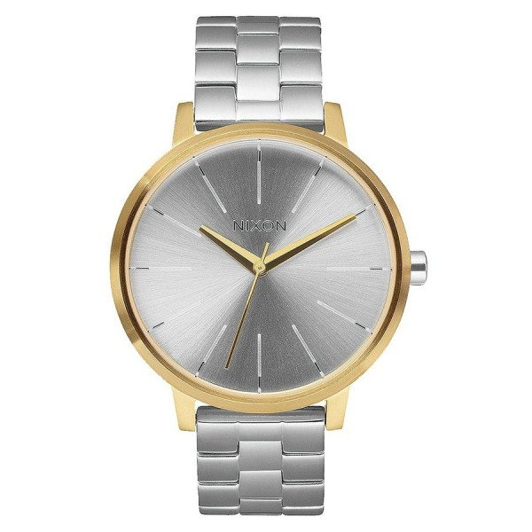 NIXON WATCH KENSINGTON GOLD SILVER SILVER
