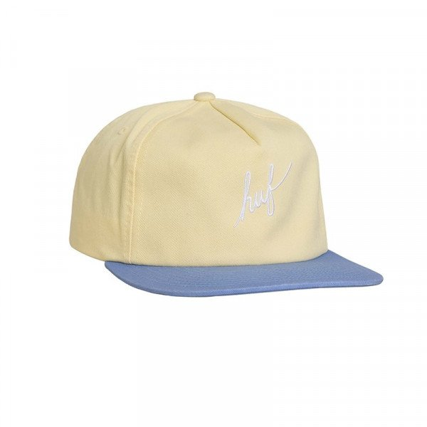 HUF CEPURE STONE WASH SCRIPT SNAPBACK SUNSET YELLOW F18