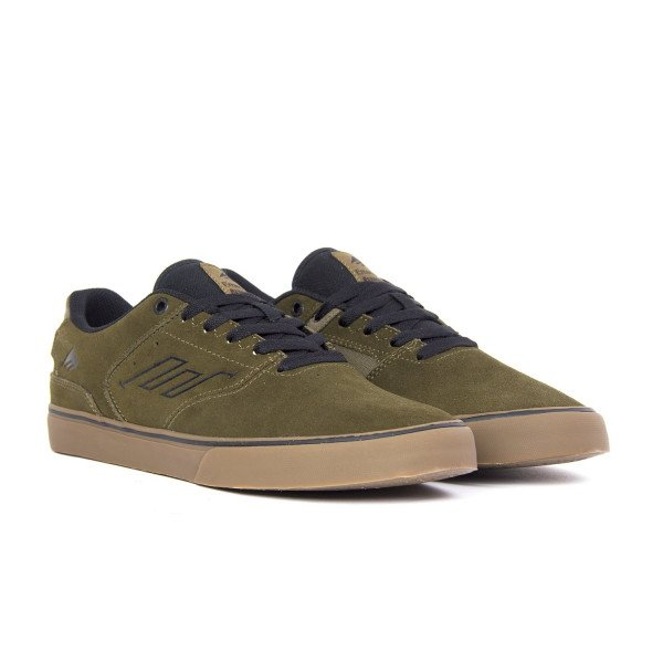 EMERICA APAVI REYNOLDS LOW VULC OLIVE BLACK GUM F18