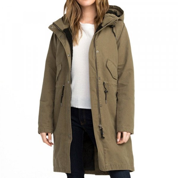 RVCA JAKA HIGHLANDS PARKA BURNT OLIVE F18