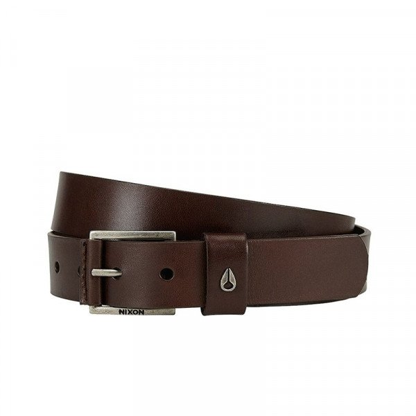 NIXON BELT AMERICANA MID BELT DARK BROWN