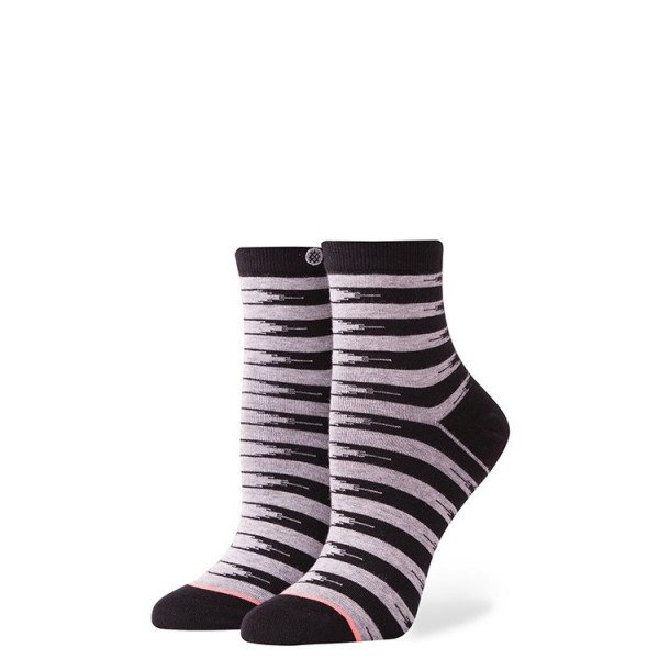 STANCE ZEĶES FOUNDATION WOMEN STEADFAST BLACK