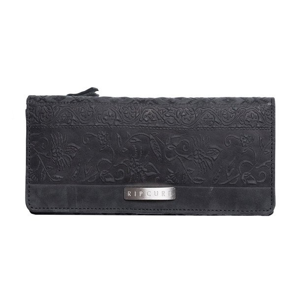 RIP CURL MAKS HIGH DESERT RFID CHEQUEBOOK LEATHER WALLET BLACK