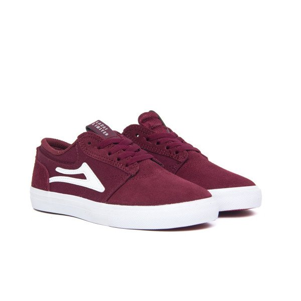 LAKAI SHOES GRIFFIN KIDS BURGUNDY F18