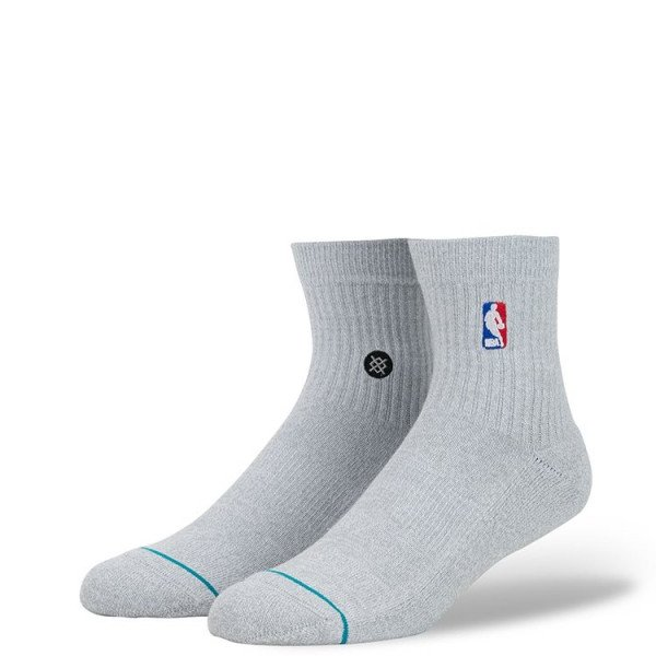 STANCE ZEĶES NBA ARENA NBA LOGOMAN QTR HEATHER GREY