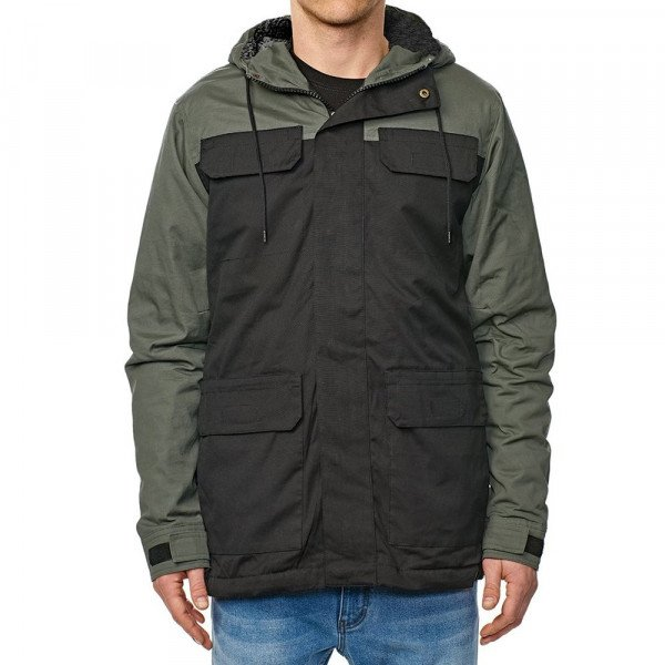 GLOBE JAKA GOODSTOCK BLOCKED PARKA II BLACK F18