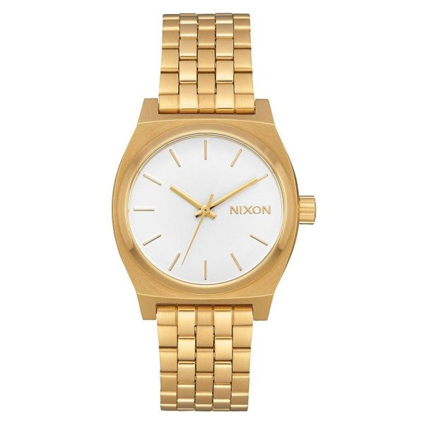 NIXON WATCH MEDIUM TIME TELLER ALL GOLD WHITE