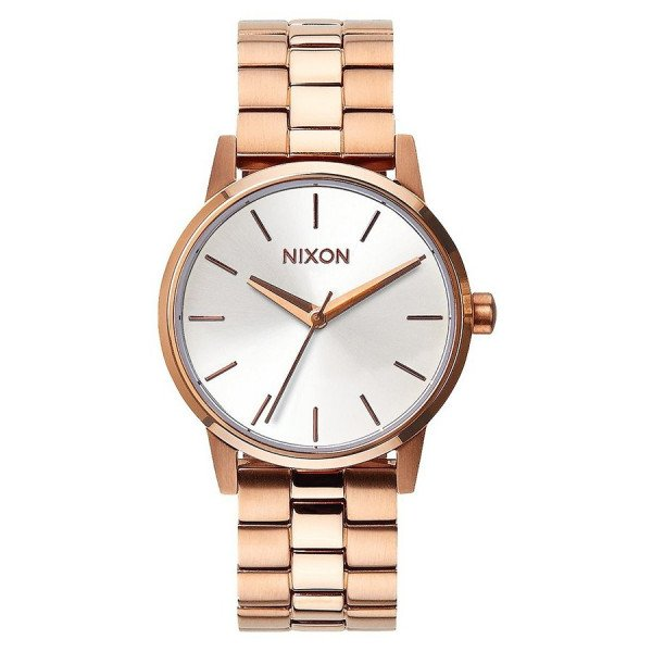 NIXON PULKSTENIS SMALL KENSINGTON ROSE GOLD WHITE