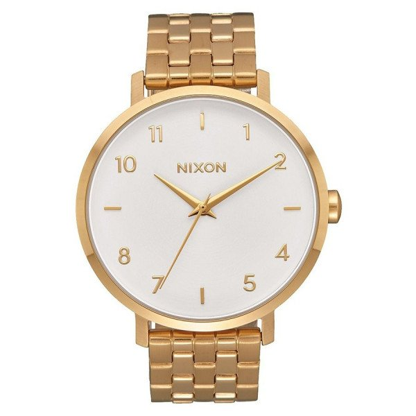 NIXON PULKSTENIS ARROW ALL GOLD WHITE