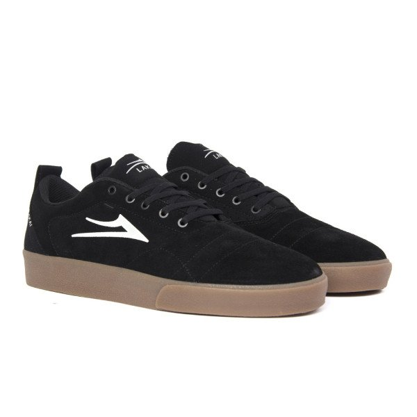 LAKAI SHOES BRISTOL BLACK GUM SUEDE F18
