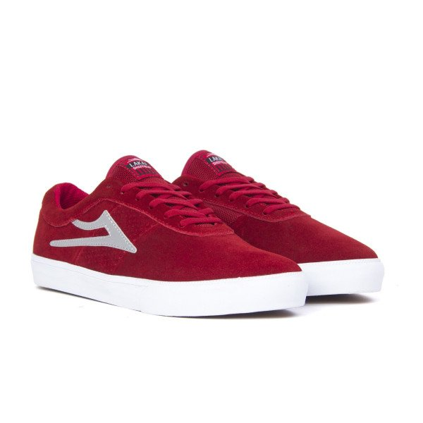 LAKAI APAVI SHEFFIELD RED SILVER SUEDE F18